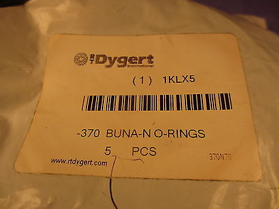 Lot of 5, Dygert 370, Buna N O-rings 1KLX5