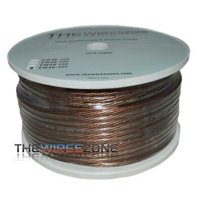 The Wires Zone PW8B-250 High Performance Black 8 Gauge 250 Feet Power Cable Wire