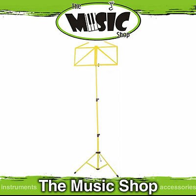 Platinum Yellow Coloured Fold Up Sheet Music Stand - Brand New Collapsable Stand
