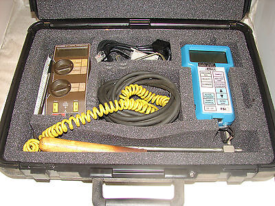 Tsi 8705 Humidity & Temperature Probe & Monitor W/ Omega 871 Thermometer *xlnt*