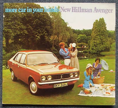 HILLMAN AVENGER GL Super DL Car Range Sales Brochure 1970 #C2599H
