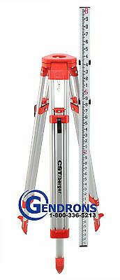 Aluminum Tripod + Grade Rod 10Th Combo, For Laser Level,auto Level,transit