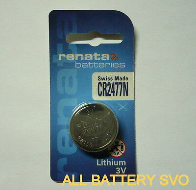 BATTERIA RENATA, mod. CR 2477N 3V LITIO 950 mAh