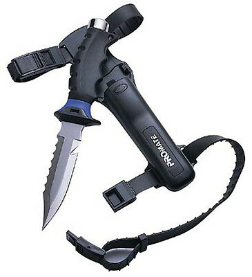 Barracuda Stainless Steel Sharp Tip DIve Knife, Freedive Snorkeling Scuba, NEW