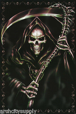 Poster : Fantasy : Grim Reaper With Scythe -  Free Shipping !!   #Pp0459   Lw8 F