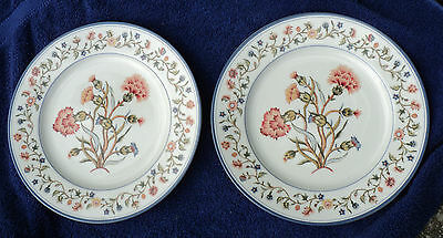 2 MOTTAHEDEH MILESTONE COUNTRY STITCH 10 3/4-inch DINNER PLATES 2002-2004
