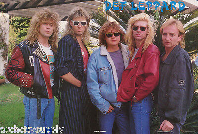 Poster: Music:  Def Leppard - All 5 Posed 1988 -  Free Shipping !  #1235  Lw21 D