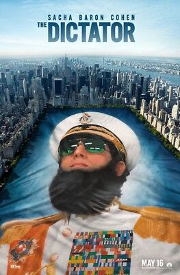 THE DICTATOR MOVIE POSTER 2 Sided ORIGINAL Ver B 27x40 SACHA BARON COHEN