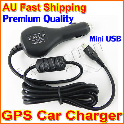 Brand New Premium GPS Car Charger Power Adapter Cable Garmin Tomtom Navman Mio