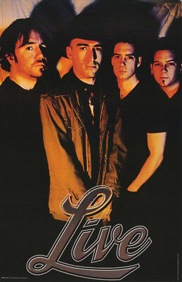 Poster - Music - Live - All 4 Posed   - Free Shipping ! #6196  Rc40 L