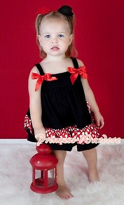 Minnie Red White Polk Dots Swing Top With Bloomer Set For Newborn Baby to 2Y