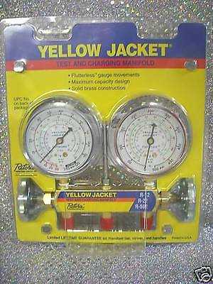 Yellow Jacket, Ritchie Engineering, Gauge Set 2 Valve Manifold R12, R22, R502