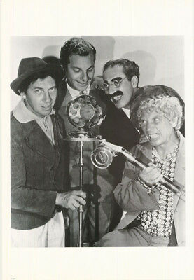 Poster :movie/tv : Marx Brothers - All 4 At Microphone- Free Ship! #6272 Lw27 L