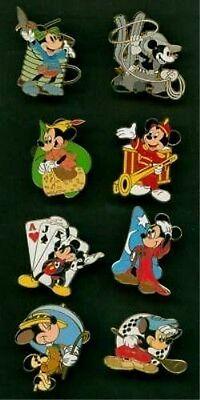 Disney Pin Mickey Through The Years Starter Set With Error Mickey Magician Pins