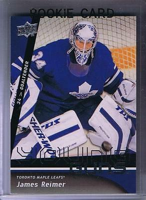 (HCW) 2009-10 Upper Deck YG JAMES REIMER Young Guns Rookie Toronto Maple Leafs