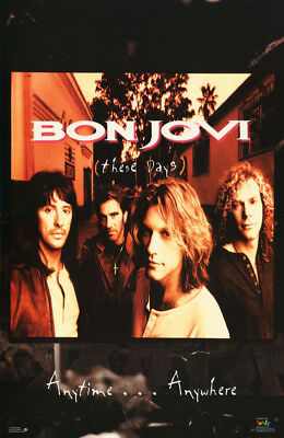 Poster : Music : Bon Jovi  - These Days 1995 - Free Shipping ! #7210 Lw23 S