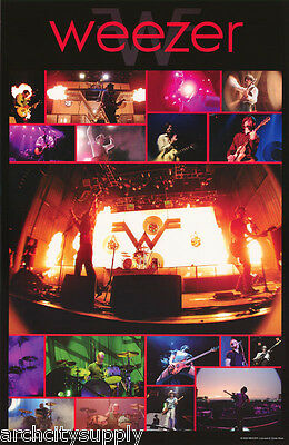 Poster : Music : Weezer - In Concert Montage -  Free Shipping ! #3563    Rc46 C