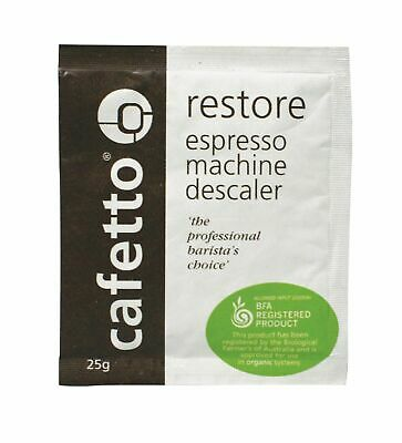 RESTORE DESCALER Decalcifier Decalcify Espresso Coffee Machine Cleaner 1 Sachet