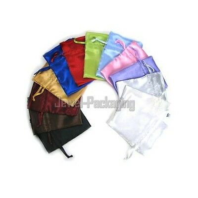 "200 Silky Satin Wedding Pouches Jewelry Bags 3X4"" PICK COLOR"