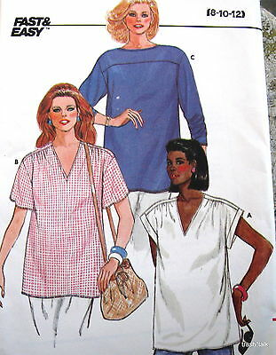Vtg 80s Maternity pattern pullover blouse tunic top womens sz 8 10 12 14 16 18