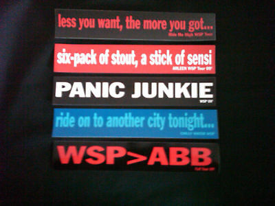 Widespread Panic 5 Stickers