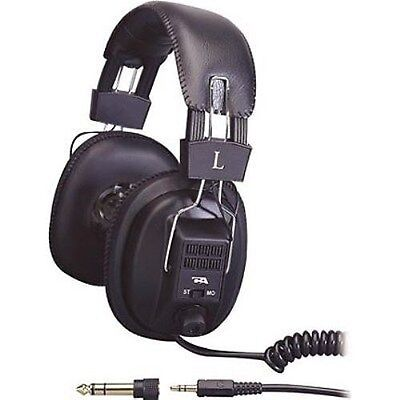 """NEW High Quality Headset.Stereo Headphones.Binaural.Ear Cup.w 1/4"""" cable.Sound"""