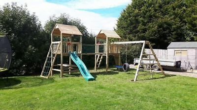 Price Reduced RRP £1595 to £975 QUALITY Double TOWERS CLIMBING FRAME 5ft BASE