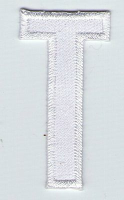 Ecusson Patche  Thermocollant Patch Lettre Blanche Blanc T