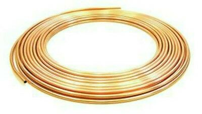 New 8Mm Microbore Copper Plumbing Pipe/tube X 3 Metres Diy/end Feed Fittings/new