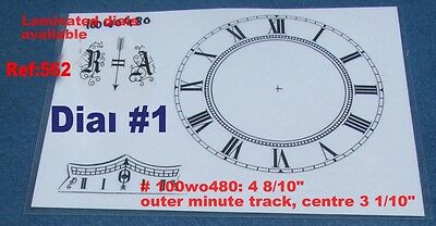 Ref: 562 - Replacement Vienna Wall clock dial (4. 8/10 inch)