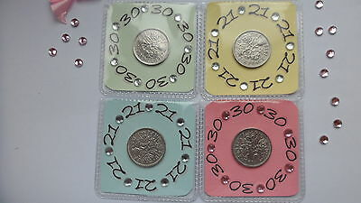 Personalised Lucky Sixpence Special Birthday Gift 18Th 21St 30Th 40Th 50Th 60Th.