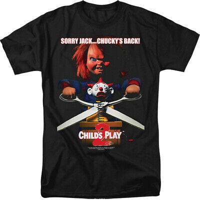 Child's Play 2 Chucky's Back Licensed Adult T Shirt