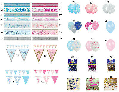First Holy Communion Banners & Balloons All Under One Listing Free P&p