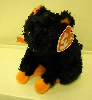 #3048 NWT RETIRED TY 2001 Fraidy the Cat Halloween Beanie Baby Plush