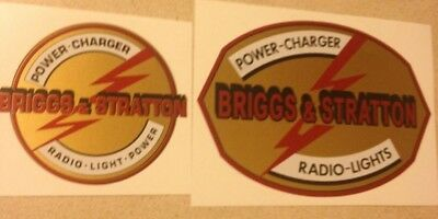Briggs & Stratton Y Power Charger Lightning Bolt Belt Drive PC100 Set of 2 decal