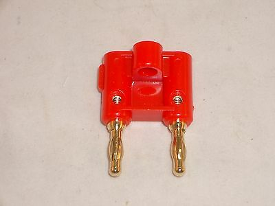 Mpj 14901Pl Red Dual Banana Plug Gold Contacts Fits Pomona
