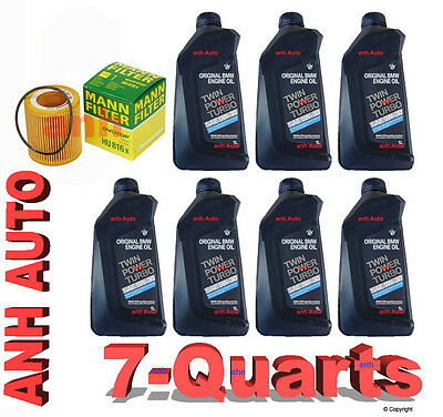 7-Quarts 5w30 Genuine Bmw Synthetic  Motor Oil &1-Mann Oil Filter for BMW