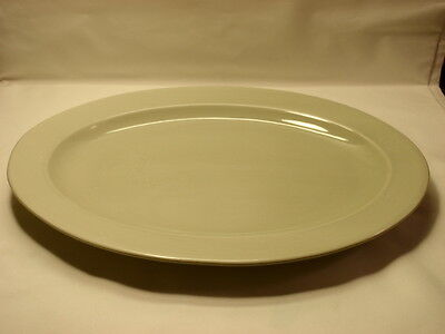 "MSE Martha Stewart Everyday Light Green 16"" by 11 1/2"" Oval Serving Platter"