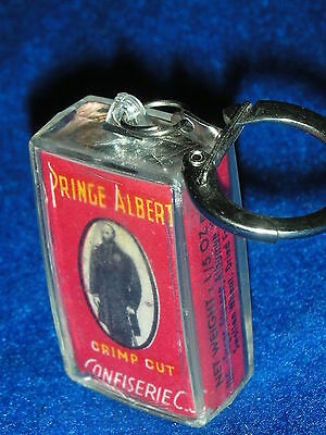 rare VINTAGE ancien PORTE-CLE key ring PRINCE ALBERT confiserie C.S CRIMP CUT