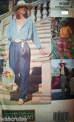 Miss / MP UNCUT Vogue Sport 8095 Very Easy Sewing Pattern Shorts Pants Sz 6-8-10