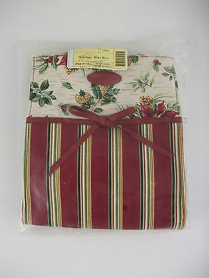 Longaberger Holiday Christmas Gift Bag Tote NIB