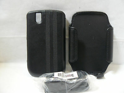BLACKBERRY BOLD 9650/TOUR 9630 LEATHER COVER CASE AND HOLSTER COMBO PACK