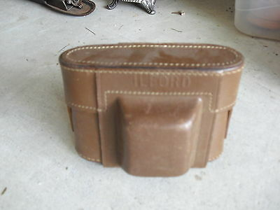 Vintage Leather Ilford Camera Case with Strap