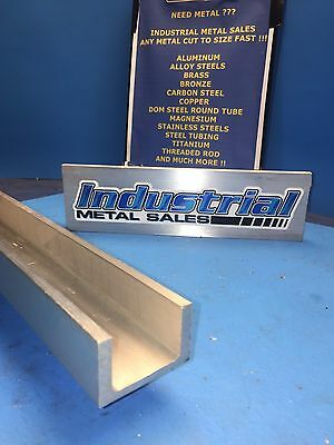 "6061 T6 Aluminum Channel 2"" x .170"" x 1-1/4"" x 72""-Long"