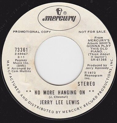 """JERRY LEE LEWIS - """"NO MORE HANGING ON"""" / """"THE MERCY OF A LETTER"""" on MERCURY VG++"""
