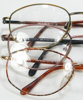 1990's Frame France Metal Vintage Eyeglass Frame Spring Hinge Logo Paris 3 Color