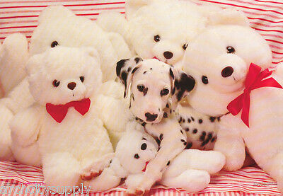 Poster - Animals - Dalmatian With Teddy Bears -  Free Ship #2994 Rp84 L
