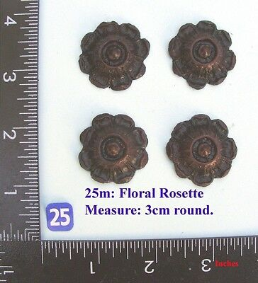 "TITLE: 25M ""4 circular rosettes"" clock case / furniture DIY"