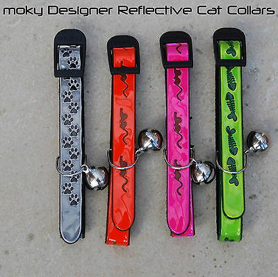 Designer Reflective Cat Collars (2 collars) - Freepost