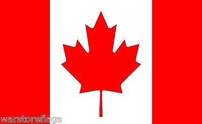 """CANADA FLAG 18"""" X 12"""" Boats treehouses caravans MONTREAL VANCOUVER Canadian"""